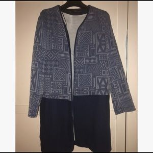 Zara Geometric Pattern Coat